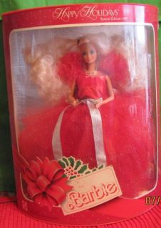 1988 Holiday Happy Holidays Christmas Barbie Doll Box New Never out of