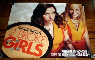 Broke Girls 5ft Poster Kat Dennings Beth Behrs Season 1