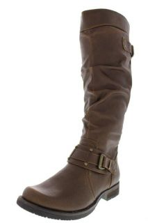 Bare Traps New Jaline Brown Embellished Knee High Slouch Riding Boots