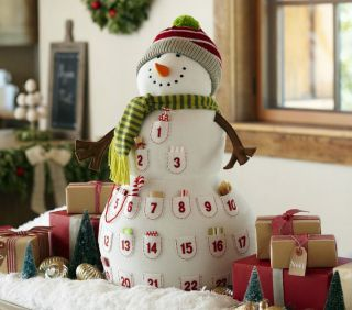 Pottery Barn Kids Plush Snowman Christmas Advent Countdown Calendar 27