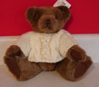 Russ Berrie Co Barrington Teddy Bear Cable Knit Sweater