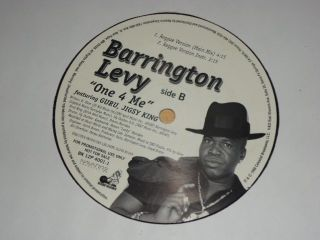 RARE Barringon Levy One 4 for Me Reggae 12 Vinyl Record Whie Label