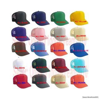 Solid Color Unisex Baseball Trucker Golf Foam Mesh Cap Hat US