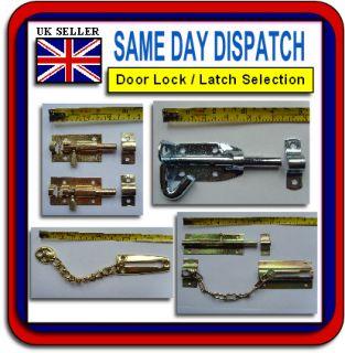 Door Lock Latch Chain Security Bathroom Barrel Bolt Pad Guard