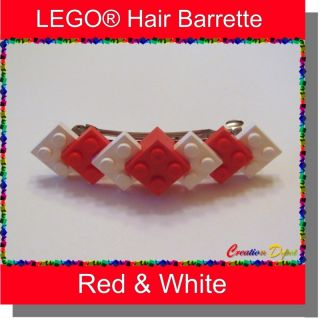 Lego® Red White Barrette Hair Clip Valentines Day