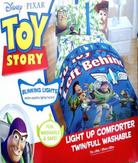 Toy Story No Toy Left Behind Light Up Twin Comforter Sheets 4pc