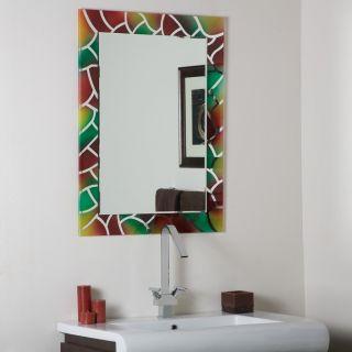 Frameless Mosaic Wall Mirror Modern Bathroom Designer