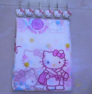 Hello Kitty Bathroom Shower Curtain 12pcs Hello Kitty Shower Curtain