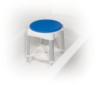Drive Medical Bath Stool with Padded Rotating Seat RTL12061 300lb