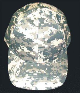 Digital Camouflage Low Profile Baseball Hat Cap Camo