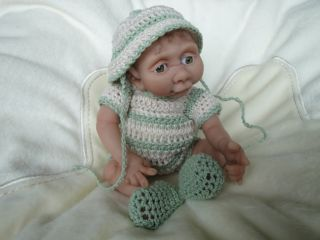 Hand Sculpted Baby Art doll Polymer 7 Gorgeous Boy Ooak ♥♥