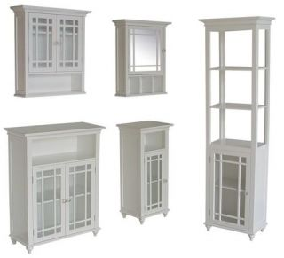 neal bathroom storage wooden wall cabinet white
