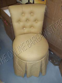 Frontgate Sandra Bathroom Makeup Vanity Rolling Stool Chair sunbrella