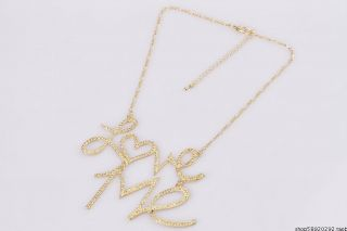 Fashionable Beautiful  Love Me Alloy Charms Necklace