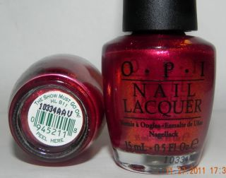 OPI The Show Must Go on Nail Polish Lacquer HL B11 Burlesque RARE