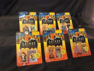 Batman Animated Series Lot All 6 Diecast Action Figures Penguin
