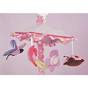 KIDSLINE RUBY GARDEN BUTTERFLY FLOWER LADYBUG BABY CRIB MUSICAL MOBILE