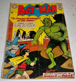 Batman 154 Batman Robin II DC National Comics 1963