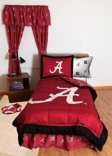 Crimson Tide Full Comforter Sham Decor Collegiate Bedding Set
