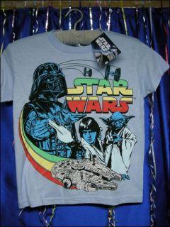 Star Wars Childs T Shirt Size Medium Large Darth Skywalker Yoda Light