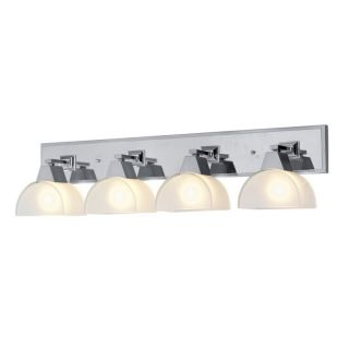 NEW 4 Light Bathroom Vanity Lighting Fixture, Brushed Nickel Chrome