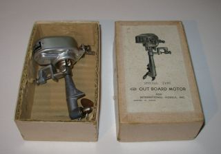 Vintage Imp Battery Operated Toy Outboard Boat Motor Very Clean in Box