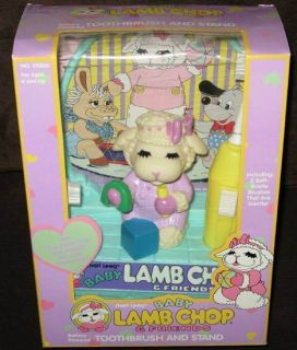 LEWIS LAMB CHOP & FRIENDS BATTERY POWERED TOOTHBRUSH AND STAND 1993