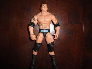 Mattel Elite Batista wwe wrestling figure Blue wrestling gear