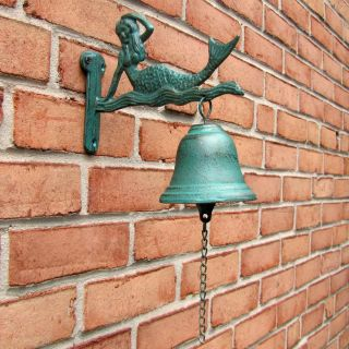 Cast Iron Mermaid Tiki Bar Dinner Call Bell Indoor Outdoor Nautical