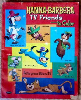 Hanna Barbera TV Friends to Color 1167 59 VG