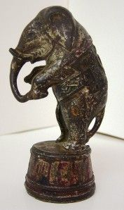 Elephant on Tub Cast Iron Bank AC Williams c1920s 1934