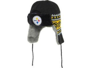 2012 New Era Team Trapper Hat Beenie Pittsburgh Steelers Beanie Warm