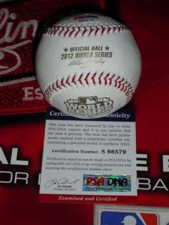 CLARK SIGNED SAN FRANCISCO GIANTS, 2012 WORLD SERIES BASEBALL, PSA/DNA