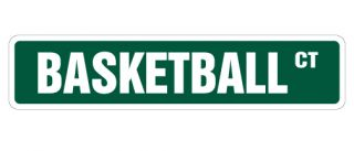 Basketball Street Sign Signs Hoop Net Coach Team Gift Shoes Uniform