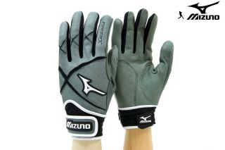 G2 Adult Baseball Softball Batting Gloves Gry/Blk (Large)