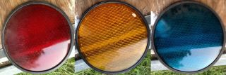 RYG Set Traffic Signal Stop Light Lens for 12 Heads Glass with Seal