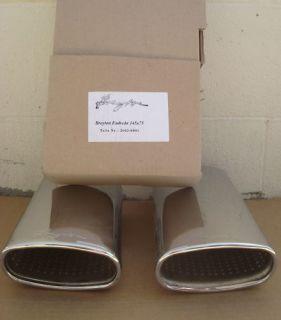 Breyton Universal Chrome Exhaust Tail Pipes Tip Set