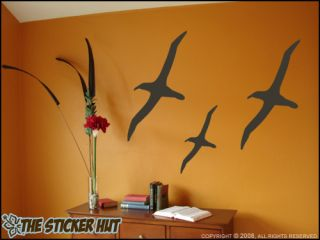 Beach Seagulls Birds Vinyl Wall Stickers Decals 236
