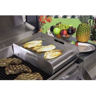 Little Griddle Stainless Steel Griddle For BBQ Grills   Medium