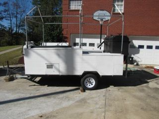 Large BBQ Smoker Trailer Gas Grill Catering Fair Vending Contests