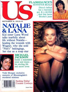 Wood Michael Jackson Jennifer Beals US Magazine Sept 1983