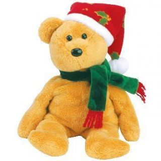 Ty Beanie Baby Babies 2003 Holiday Teddy in Hand