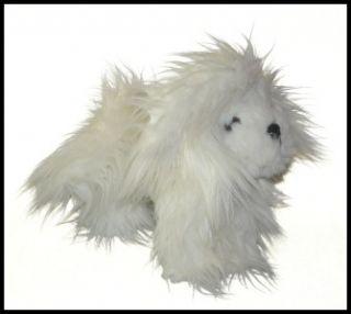 Battat White Maltese Plush Lovey Stuffed Animal Dog 9 Tall Pucci Pup