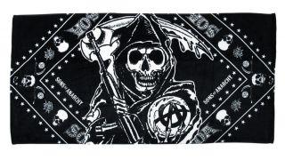 Licensed Sons of Anarchy Grim Reaper Beach Towel 31 x 61