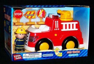 Tots Fire Engine Truck Set 5PC Fireman Lights Sounds Battery Operated