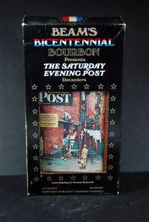 Jim Beams Bicentennial Bourbon Saturday Evening Post Decanter Normal