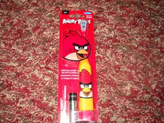 Birds Turbo Power Battery Operated Toothbrush New Red Bird