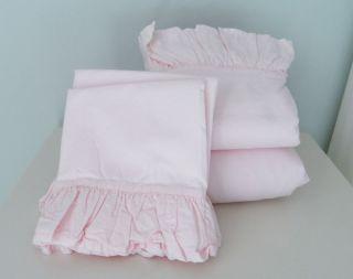 Rachel Ashwell Simply Shabby Chic Blush Beauty Pink Ruffled Full Sheet