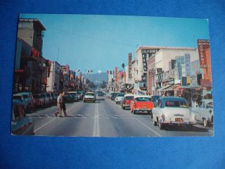 Santa Monica Beach City California Vintage Cars Postcard
