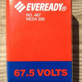 Antique Radio Eveready Battey No 467 Neda 200 67 5 Volts Brand New